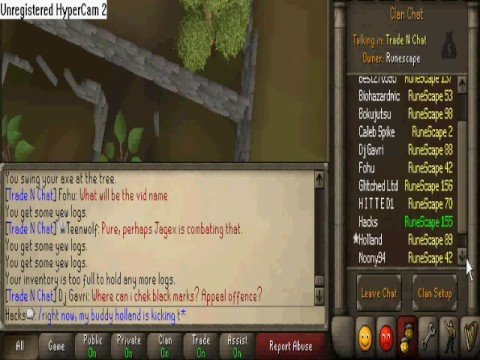 Holland Kicking People From Runescape's Chat