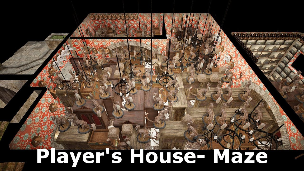 Black Desert Online House Maze First Person View Youtube
