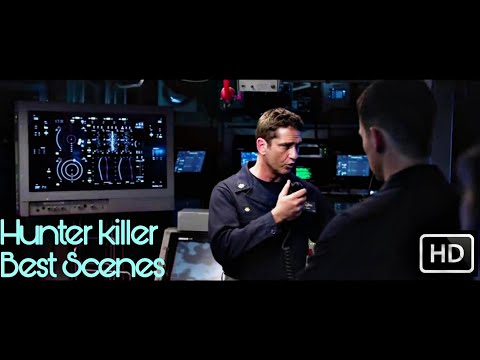 Hunter killer | best submarine scenes | Gerard butler | 2018 movie | HD clip