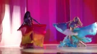 студия восточного танца Анчарэ - Огонь и Вода (танец с веерами-вейлами)