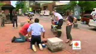 CBC Report on Ambulance New Brunswick CPR Sidewalk Demonstration