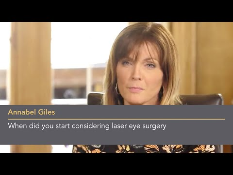 Annabel Giles: When did you start considering laser eye surgery