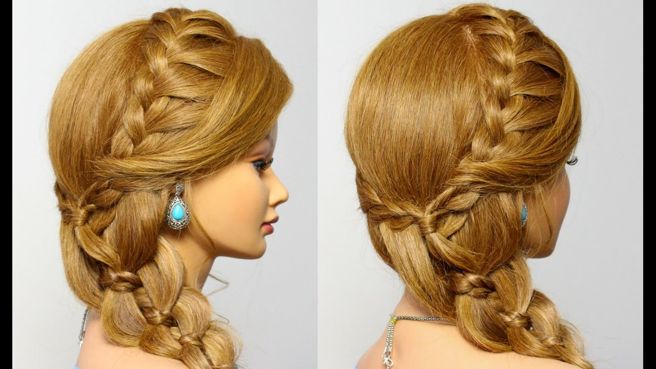 cute and quick braids. easy hairstyles