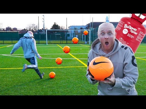 HELIUM FOOTBALL CHALLENGE (Does It work??)