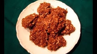No Bake Chocolate Peanut Butter Oatmeal Cookies By Diane Love To Bake
