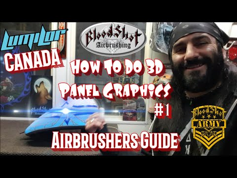 How to Airbrush 3D Panels over Lumilor on a Harley-Davidson Gas Tank & Fender Video 1of2