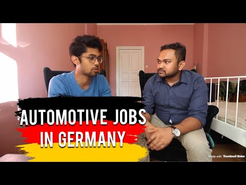 JOB IN AUTOMOTIVE INDUSTRY FROM INDIA, GERMANY 🇩🇪