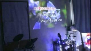 大塚愛の金魚花火を歌いました。 後半に花火が華麗にあがります。