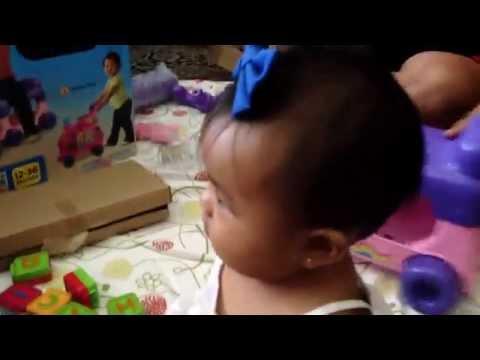 New walker-train-learning toy! - July 17, 2014   BridgetBeeTV