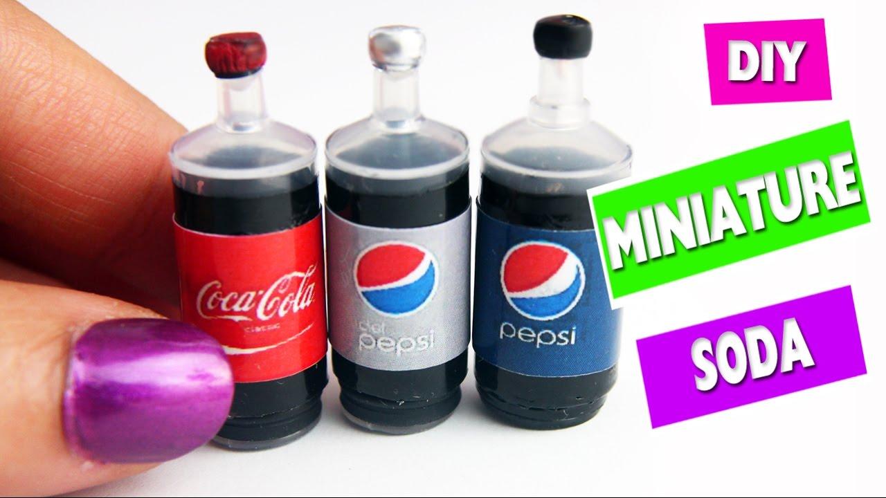 5 minute crafts diy miniature realistic cola soda. Black Bedroom Furniture Sets. Home Design Ideas