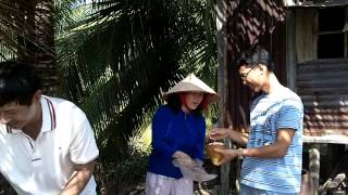 Coconut farmer treats us in Phu Quoc, Vietnam