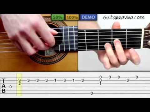 como tocar Hotel California FingerPicking   Clase Completa con tabs en guitarra acústica