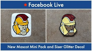 Facebook Live : New Mascot Mini Pack and Siser Glitter Decal