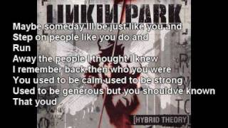 Linkin Park - A Place For My Head (lyrics In vid and description) thumbnail