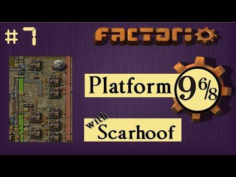 Factorio Multiplayer: Platform 9 6/8 EP 7 - More Smelting!   Train & Belt World, Gameplay, Lets Play