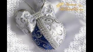 НОВОГОДНИЕ ШАРИКИ из лент своими руками🌲DIY Christmas balls