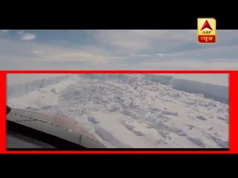 Global warming leads to crack in Antartica's iceberg; breaks free