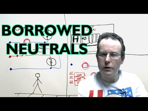 Shared or Borrowed Neutrals on Mains Electricity Circuits