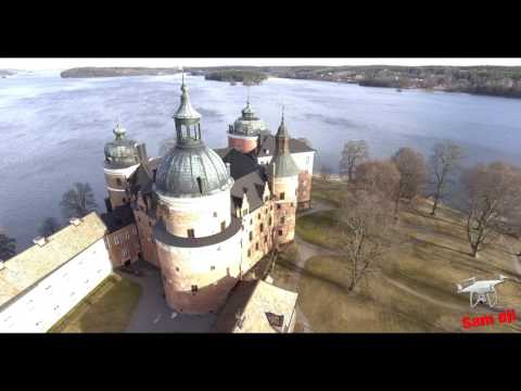 Mariefred Castle Sweden From Above /Part One  السويد قلعة ماري فريد
