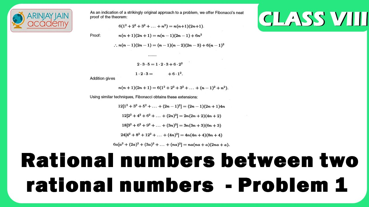 hight resolution of Finding rational numbers between two rational numbers - Problem 1 - Number  System - Maths - YouTube