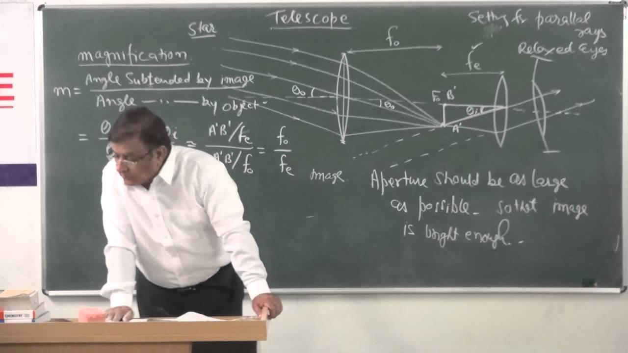 Xii 7.14 telescope 2014 pradeep kshetrapal physics.mp4 youtube