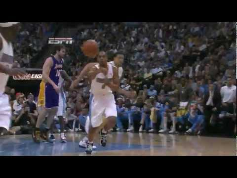 Ty Lawson big game 25 points vs L.A. Lakers full highlights round 1 game 3 NBA Playoffs 2012.05.04