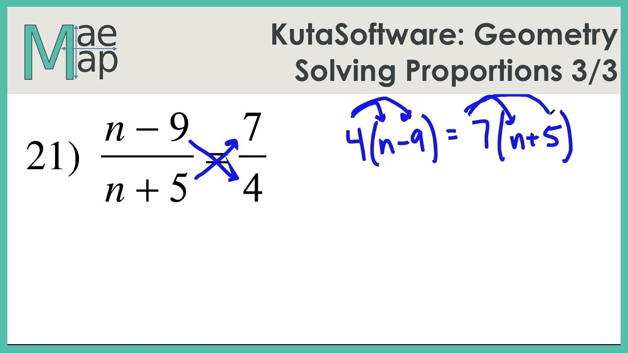 KutaSoftware: Geometry- Solving Proportions Part 3 - YouTube