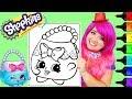 Coloring Shopkins Handbag Harriet Coloring Page Prismacolor Markers | KiMMi THE CLOWN