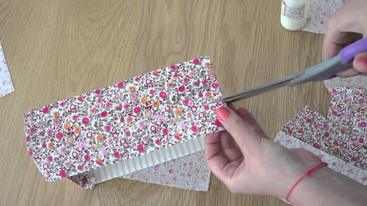 Customisez une bo te avec du tissu youtube - Fabriquer une chaussure en carton ...