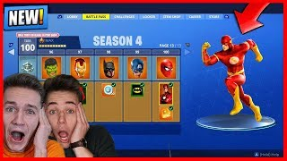 *NEW* SEASON 4 SUPER HELDEN LEAK + V-BUCKS VERLOSUNG ! FORTNITE BATTLE ROYALE LIVE !