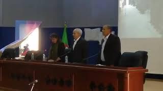 Ahmed Benbitour invité de l'université de Béjaïa  minute de silence en homma