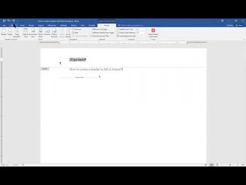 How to Create a Header with MLA formatting