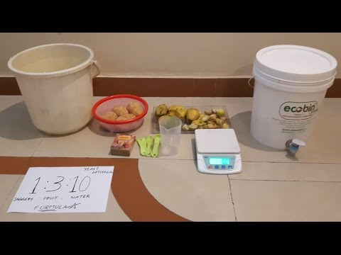 How to make fruit or bio enzyme in ecobin composter