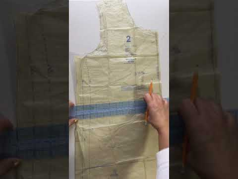 How to Shorten a Knit Top Sewing Pattern