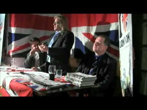 Richard Perry speaking about Nick Griffin and the Barking election