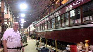Streetcars restoration shop at the Trolley Museum PA -27