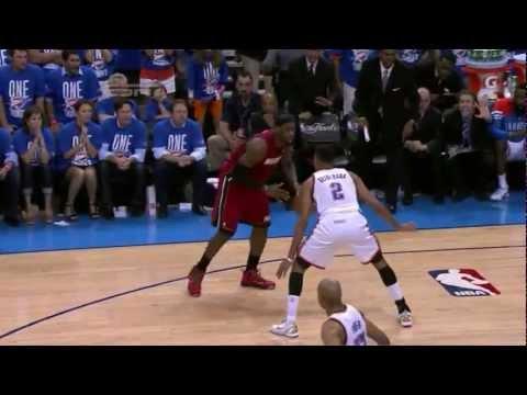 LeBron James 30 points (nice dunk) vs Oklahoma Thunder full highlights GM1 NBA FINALS 2012.06.12