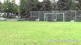 How To Receive A Long Pass In Football Soccer
