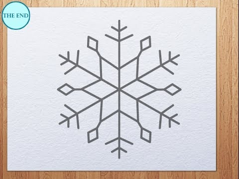 how to draw snowflake - YouTube