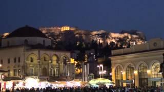 Ночной Акрополь/Афины/Греция(Скоро сделаю и одно видео про наши полтора дня в Афинах -куда ходили, что сколько стоит и где останавливалис..., 2014-09-20T21:16:14.000Z)