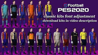 Barcelona classic kits font adjustment guide pes 2020 ps4 20 download kits: before 1997: https://youtu.be/pl8ljvvupdg?list=plvtgru9y9ol7habeldms2hzxhjdxi...