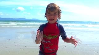 Nice day at the beach for Makar and his friends Song for kids