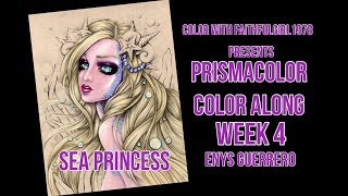 PRISMACOLOR WATER,SHELLS & SEAWEED | LIVE SEA PRINCESS ENYS GUERRERO WEEK 4