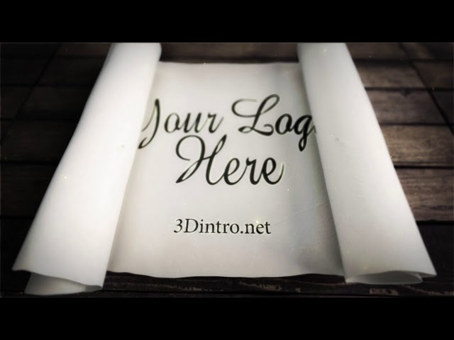 3Dintro.net 183 white scroll logo reveals - 3Dintro.net - Intro Video