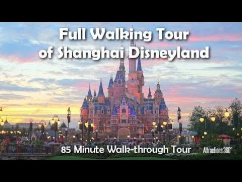[HD] FULL Shanghai Disneyland STEADY Walking Tour of the whole Park - 85 Minute Tour
