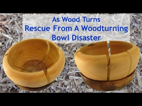 Rescue From A Woodturning Bowl Disaster Youtube
