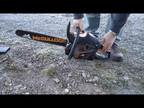 Starting Mcculloch chainsaw