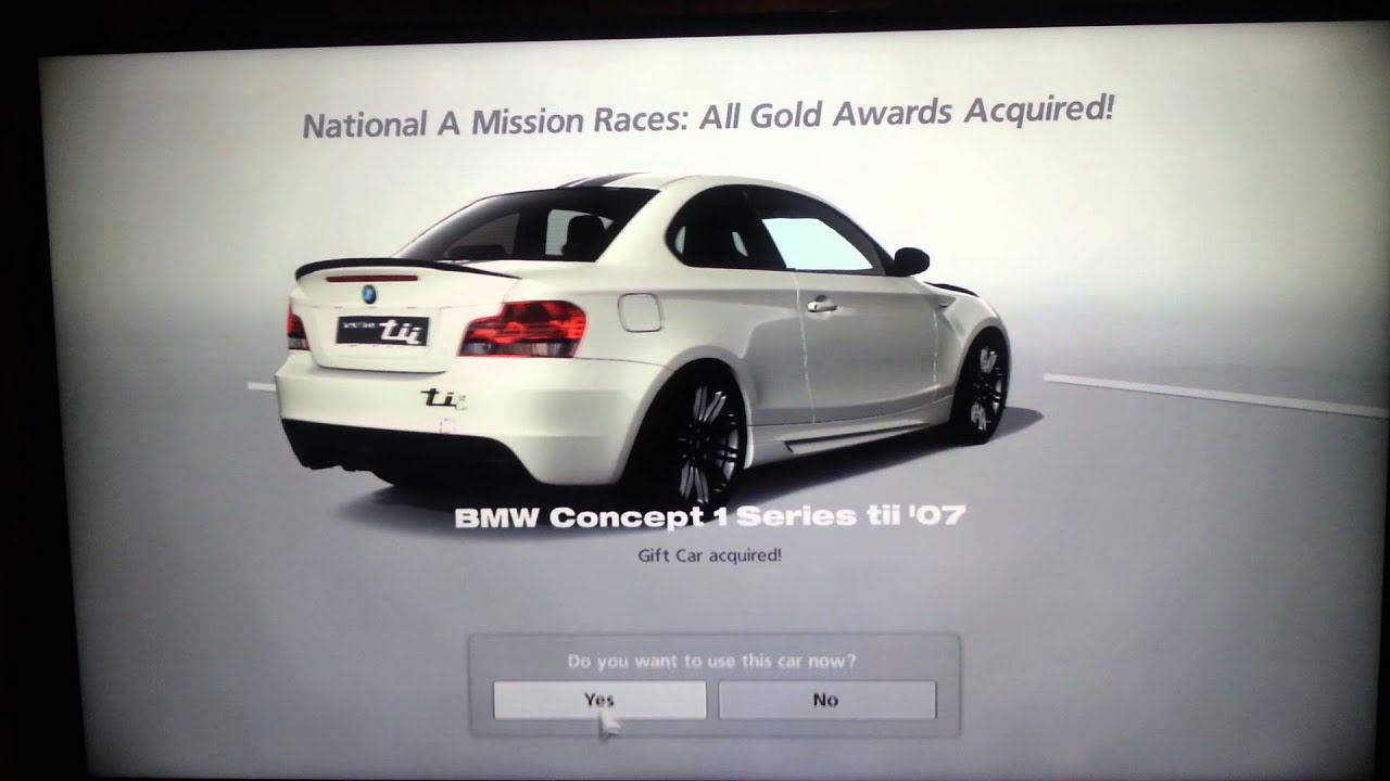 GT6 Gift Car BMW Concept 1 Series tii \'07 - YouTube
