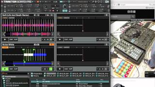 Ilan Kriger set-up de DJ  Abril de 2012  (Traktor + Audio 10 + Controladores MIDI)