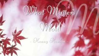 What Matters Most - Kenny Rankin